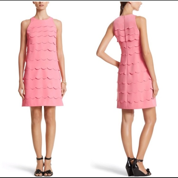 WHBH Scalloped Tiered Dress